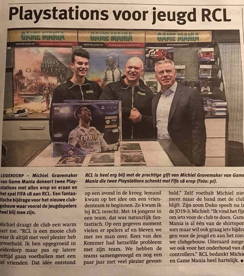 Playstations voor RCL